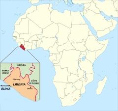 Liberia Map  Africa